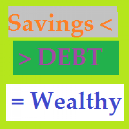 High Debt Low Saving Very Wealthy
